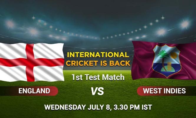 Eng vs Wi test, today's cricket match, live cricket scores, test cricket, wisden series